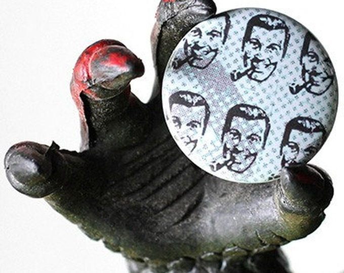 Bob Dobb Blotter 1 inch Button or Magnet - Ships Free