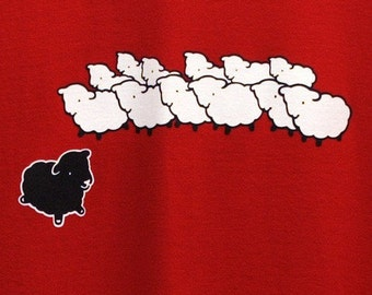 SALE Black Sheep T-Shirt - Large, XL and 2XL