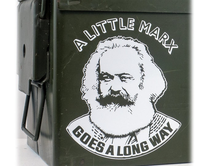 DECAL Choose Color & Size - A Little Marx Goes A Long Way Vinyl Window Decal - Ships free within the US
