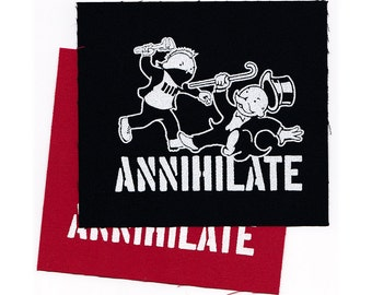 ANNIHILATE PATCH Iron-on 4 x 3.25 inches