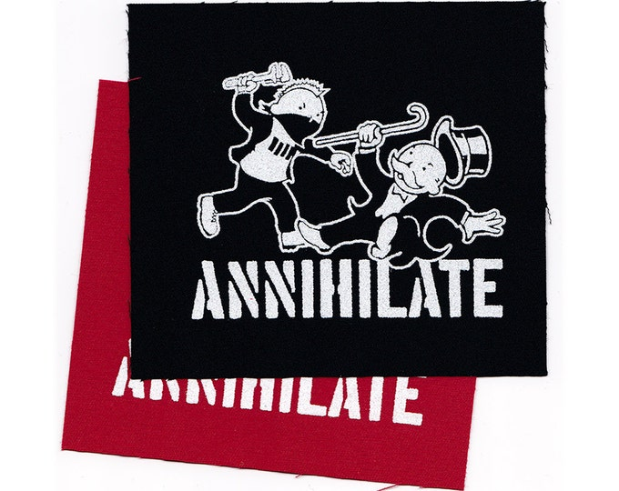 ANNIHILATE PaTCH Iron-on 4 x 3.25 inches - Ships FREE USPS First Class Worldwide