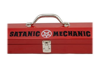Vinyl DECAL Choose Color & Size - Satanic Mechanic Vinyl Window Decal - Ships free within the US