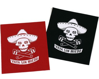 Via Sin Miedo (Go Without Fear) PATCH Iron-On 4 x 3 inches