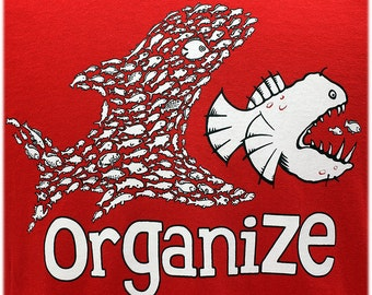 Organize T SHIRT Sizes Small, Medium, Large and XL