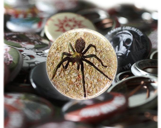 Tarantula 1 inch Button or Magnet - Ships Free