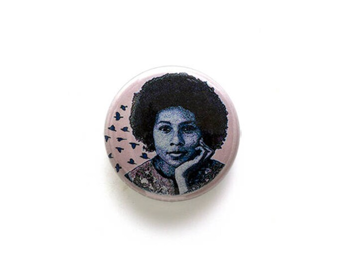 Bell Hooks 1 inch Button or Magnet - Ships Free