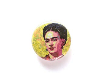 Frida Kahlo 1 inch Button or Magnet - Free Shipping