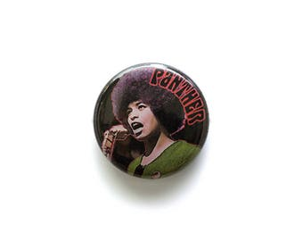 Angela Davis 1 inch Button