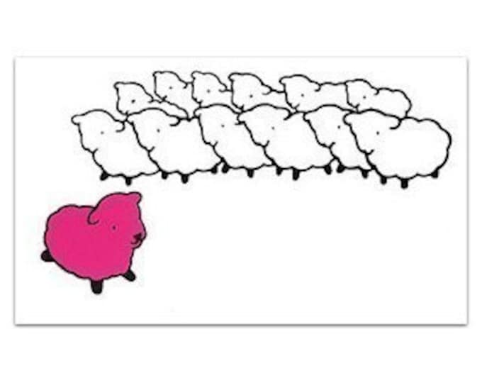 Pink Sheep Flock STICKER
