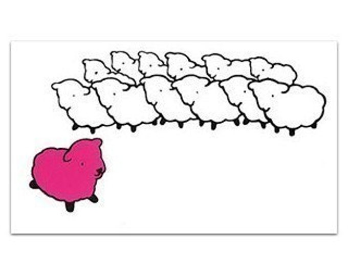 Pink Sheep Flock STICKER - Free Shipping