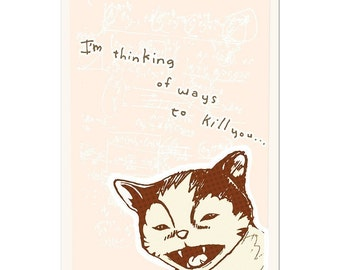 Kill You Postcard 4 x 6
