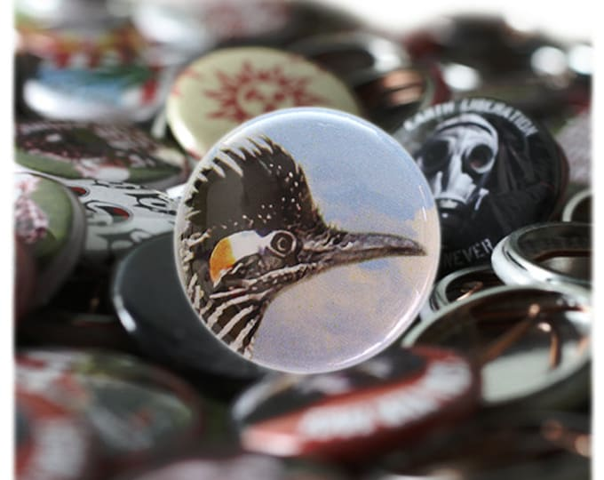 Roadrunner 1 inch Button or Magnet - Ships Free