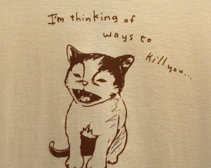 SALE Kill Kitty TShirt Available in Sizes Small, Medium and XXL