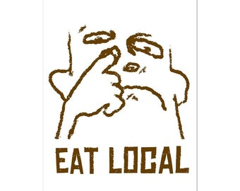 POSTCARD - Eat Local Postcard