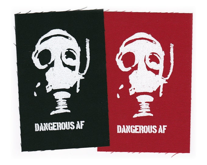 DANGEROUS AF PaTCH Iron-on 2.25 x 4 inches - Ships Free USPS First Class Worldwide