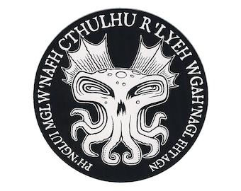 Cthulhu Round STICKER - Free Shipping