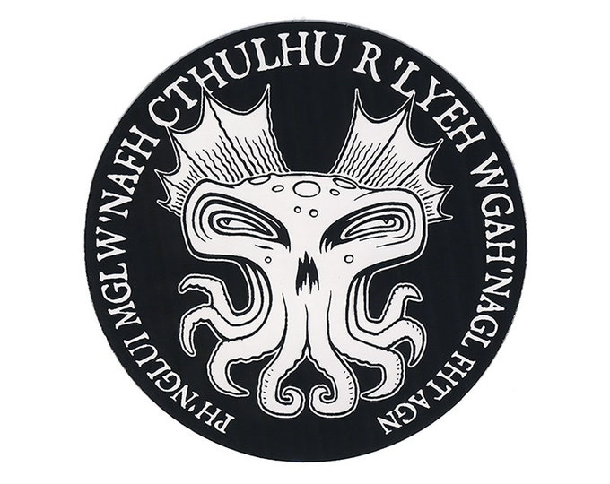 Cthulhu Round STICKER - Free Shipping