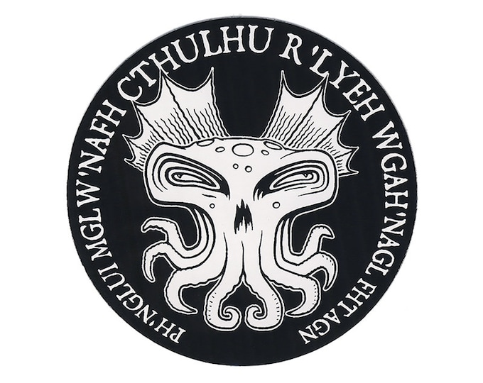 Cthulhu Round STICKER