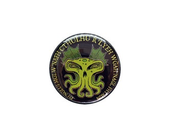 Cthulhu Button or Magnet (1 inch) - Free Shipping