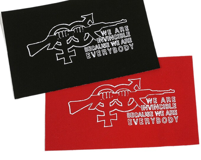 Angry Brigade PATCH Iron-On 5 x 2.5 inches - Ships FREE USPS First Class Worldwide
