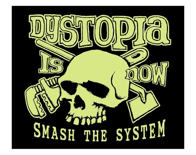 SALE!  Dystopia Now T SHIRT - Last One Size Medium