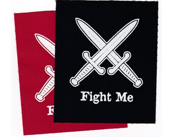 PATCH Fight Me Iron-on 3 x 3.5 inches
