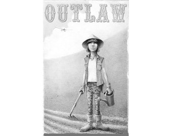 OUTLAW postcard