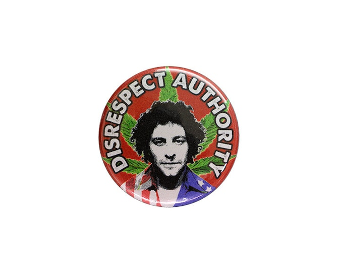 Abbie Hoffman Button or Magnet - Free Shipping