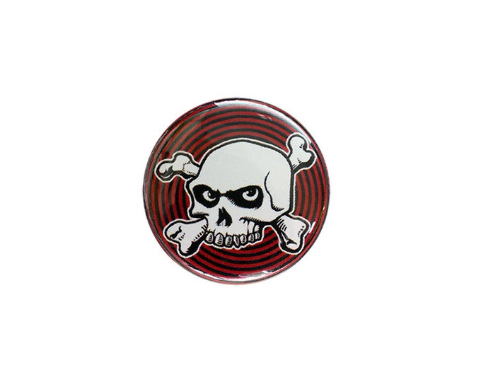 Hypno-Skull 1 inch Button or Magnet - Free Shipping
