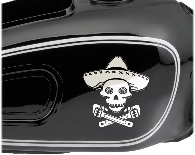 DECAL Senor Monkeywrench - Choose Color & Size - Ships free within the US