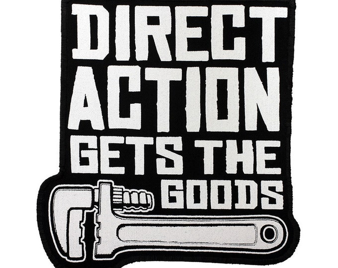 JUMBO Direct Action Iron-On PATCH with Stitched Edge 8.5 x 9inches