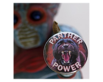 Panther Power 1 inch Button