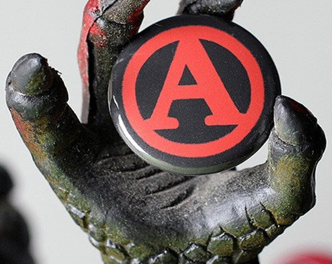 A is for Anarchy 1 inch Button or Magnet - Ships Free