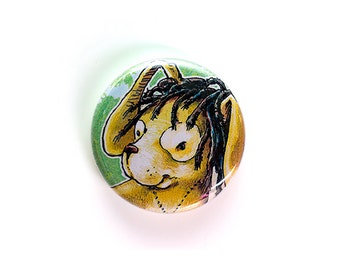 Rasta Rabbit - One Inch Button