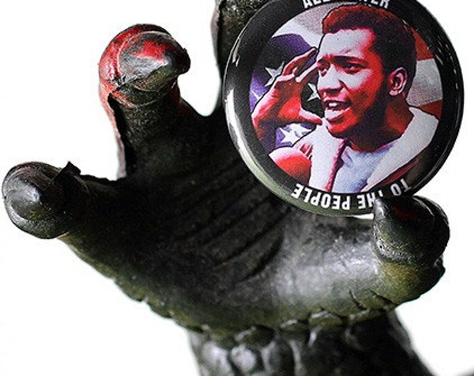 Fred Hampton 1 inch Button or magnet - Free Shipping