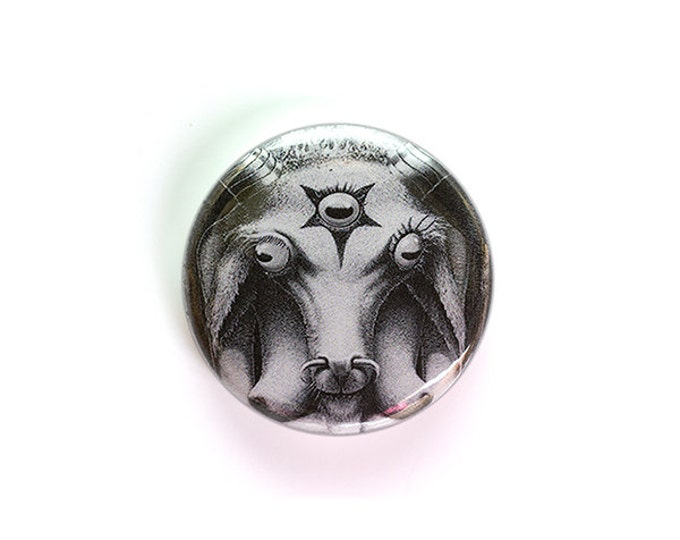 Baphomet 1 Inch Button or Magnet - Ships Free