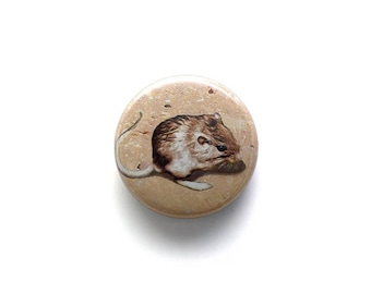 Pocket Mouse Button or Magnet - Free Shipping