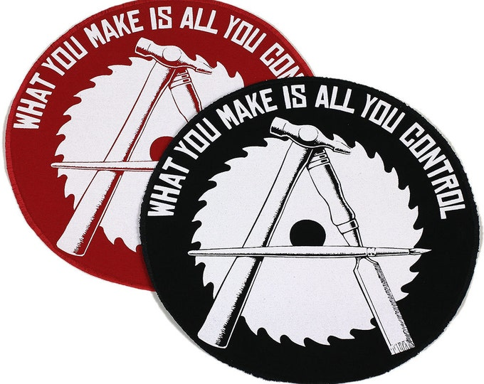 BacK In STocK! JUMBO Anarcho-Crafter Patch Iron On 9 inches Red or Black - FREE USPS Shipping within the United States