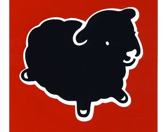 Limited Edition Larger Black Sheep Sticker