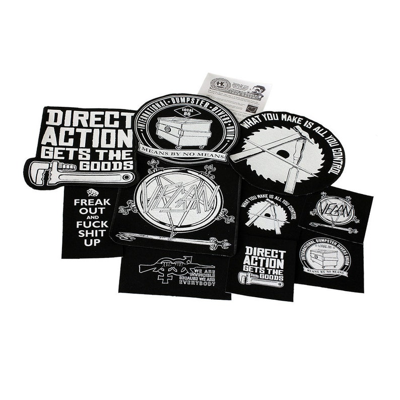 9 inches PATCH Anarcho-Crafter Iron-On