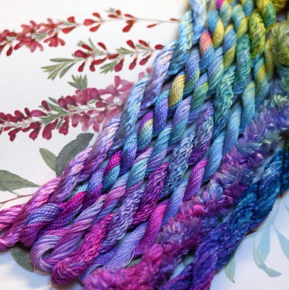 Silk Hand Embroidery Thread Embroidery Floss Hand Dyed Silk Etsy