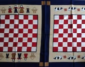 Amish Gameboard Place mats fabric, designed by Joan Kessler