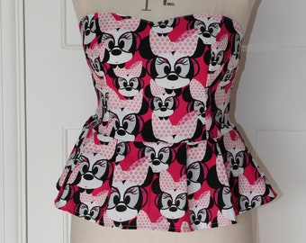 pink minnie mouse sweet heart top