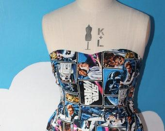 star wars - new hope - sweet heart dress - jedi. womens sci-fi dress.