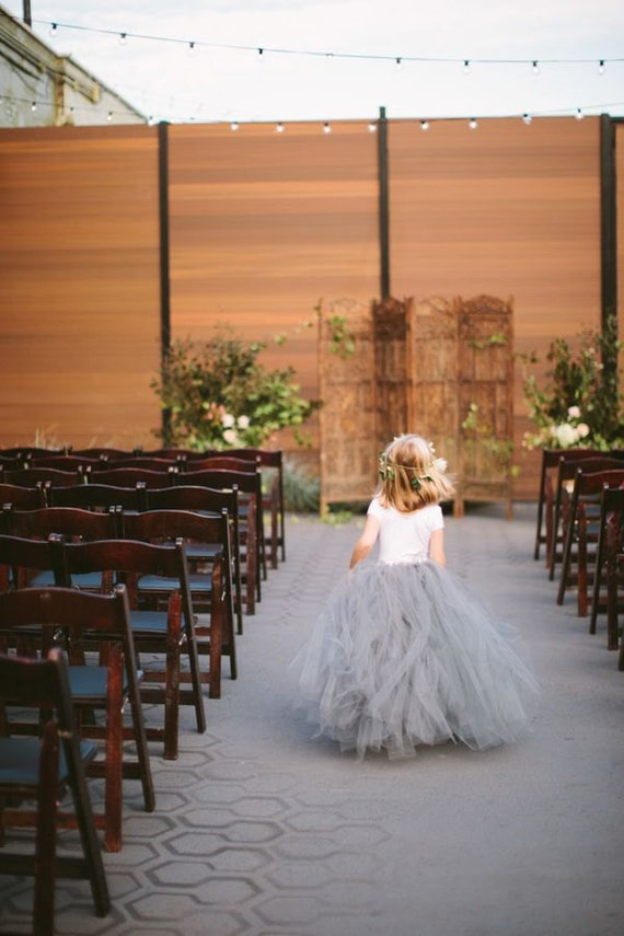 image 0 Dove Grey Tulle Skirt Sewn