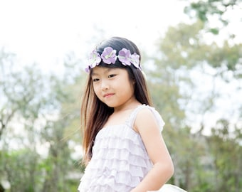 The Aster - Custom Ruffle Tutu Top with or without  Satin Straps -  Choose your colors and size - infant through 12 years