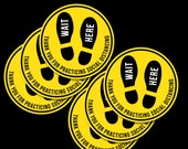 6 Pack Retail Floor Decal for Social Distancing