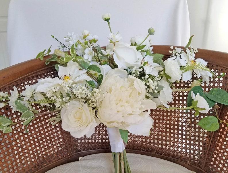 White Garden Bridal Bouquet...Ready To Ship!