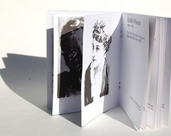 Classic authors chapbook - 11 original portrait drawings of literary figures - Poe, Wharton, Dunsany, Salinger, and more