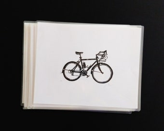 Bicycle - Handmade Block Print - Limited Edition - Series of 9